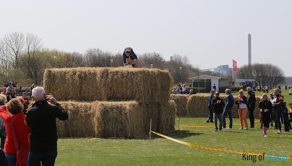 The hay bales were large