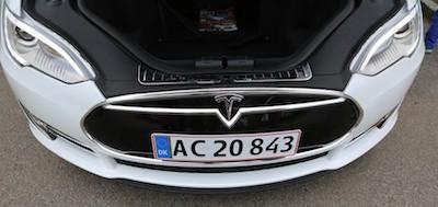The Tesla sedan looks great. Plenty of storage room at least.