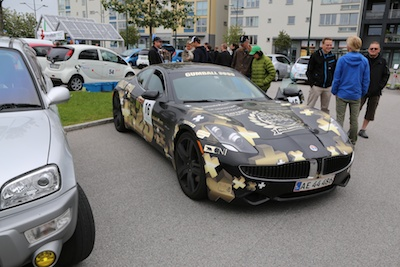 Fisker from the Gumball 3000 - nice