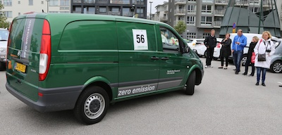 They even had a van in the race