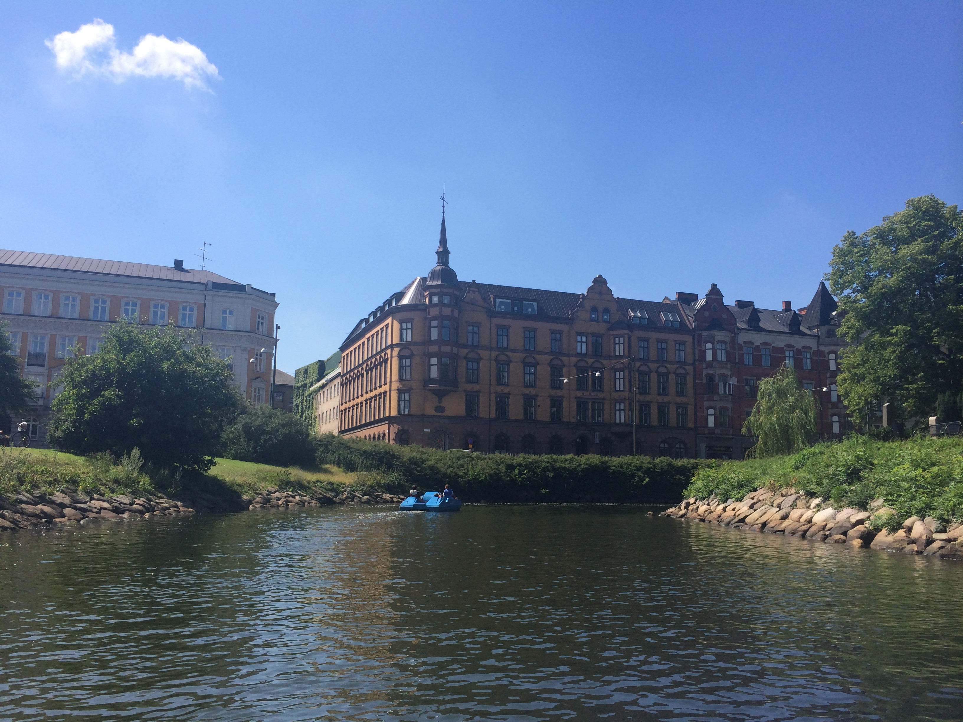 Malmö from the Canal