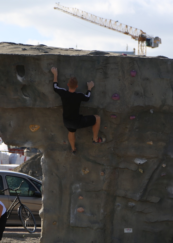 A few were practicing climbing today. Great facilities but missing a track for beginners.