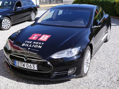 Tesla test car